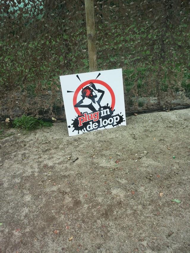 Geïllustreerd waarschuwingsbord.
